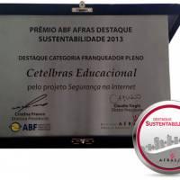 Título da Notícia 64: A Cetelbras ganha Prêmio Destaque de Sustentabilidade 2013 - Encontre franquia ou franquias entre as melhores franquias de sucesso no top franquia, para comprar franquia e abrir sua franquia.